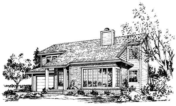 House Plan 57541 Elevation