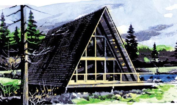 A-Frame Contemporary House Plan 57547 Elevation
