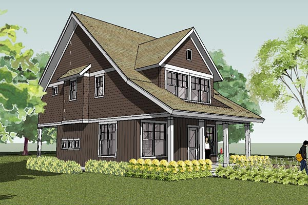 Bungalow cape cod cottage craftsman farmhouse traditional for Craftsman cape cod