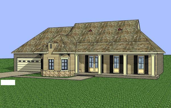 Contemporary Southern House Plan 57710 Elevation