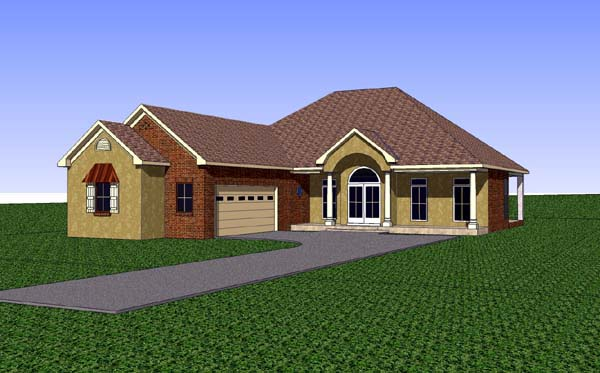 Country Southern House Plan 57716 Elevation