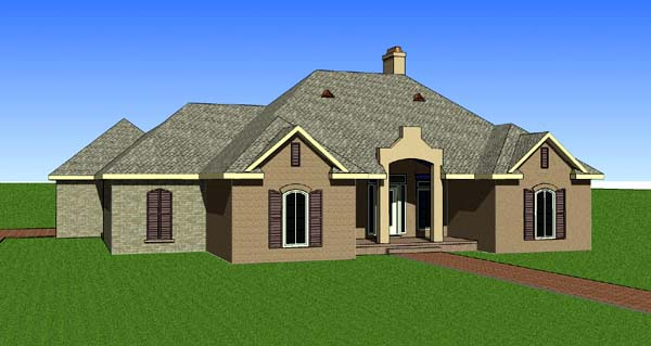 Contemporary Southern House Plan 57731 Elevation