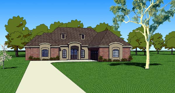 Country Southern House Plan 57753 Elevation