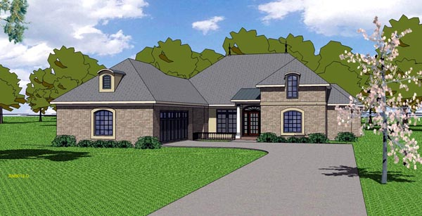 Country European Southern House Plan 57785 Elevation