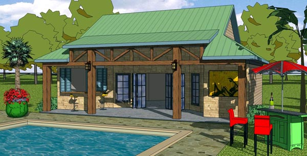 Coastal Cottage Craftsman House Plan 57856 Elevation