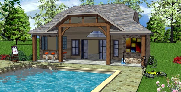 Coastal Cottage Craftsman House Plan 57857 Elevation