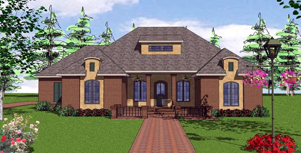 Contemporary Florida Southern House Plan 57875 Elevation