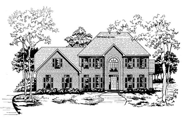 Traditional House Plan 58001 Elevation