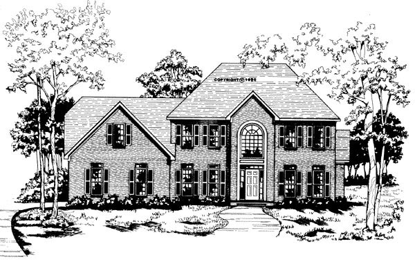 Traditional House Plan 58004 Elevation