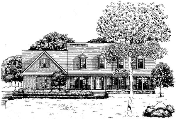 Cape Cod House Plan 58014 Elevation