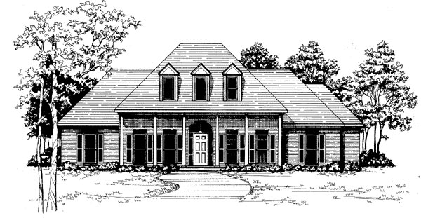 Traditional House Plan 58021 Elevation