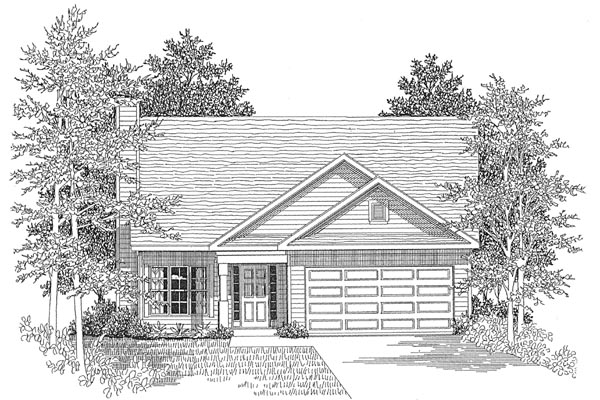 Traditional House Plan 58024 Elevation
