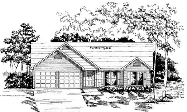 Ranch House Plan 58034 Elevation