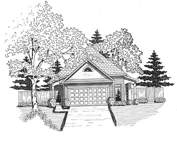 Ranch House Plan 58046 Elevation