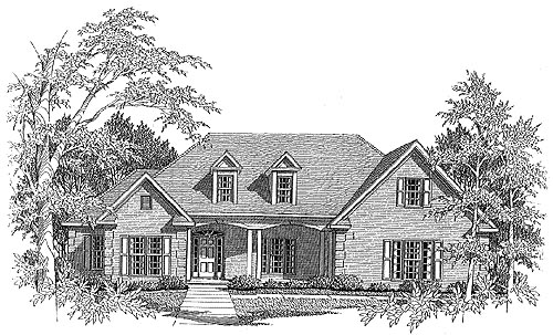 Traditional House Plan 58052 Elevation