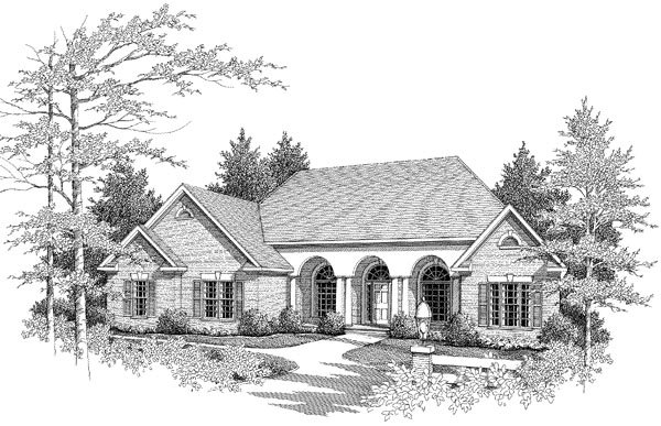 Traditional House Plan 58073 Elevation