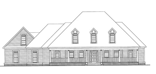 Cape Cod House Plan 58095 Elevation