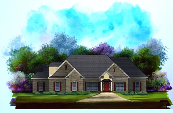 Traditional House Plan 58097 Elevation