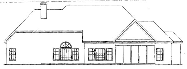 Traditional House Plan 58097 Rear Elevation