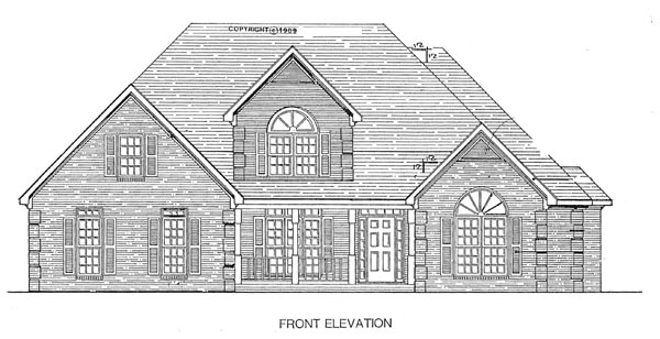 Traditional House Plan 58099 Elevation