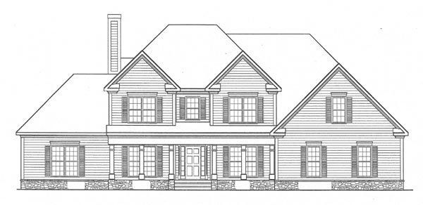 Traditional House Plan 58107 Elevation