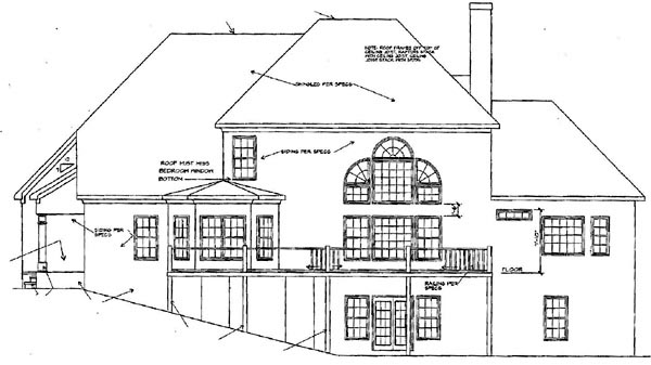 Traditional House Plan 58107 Rear Elevation