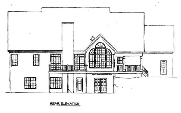 Cape Cod House Plan 58109 Rear Elevation