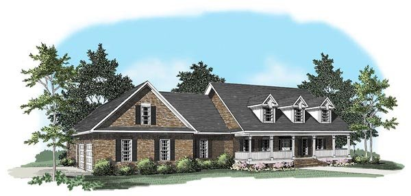Country House Plan 58117 Elevation