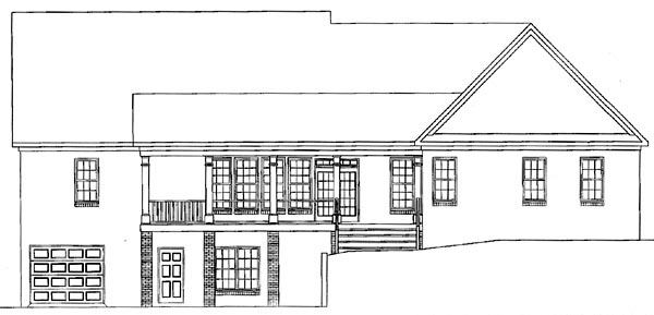 Country House Plan 58117 Rear Elevation