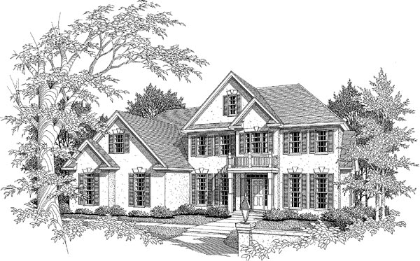 Traditional House Plan 58126 Elevation