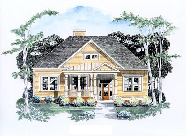 Traditional House Plan 58131 Elevation