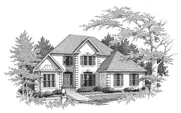 European House Plan 58135 Elevation