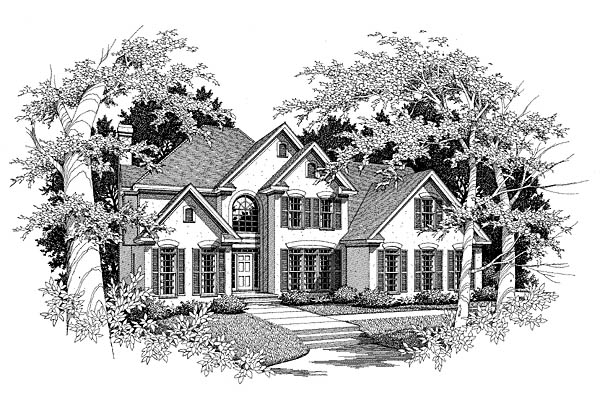 Traditional House Plan 58139 Elevation