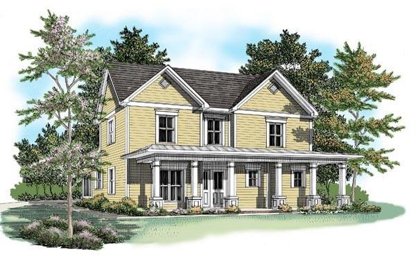 House Plan 58143 Elevation