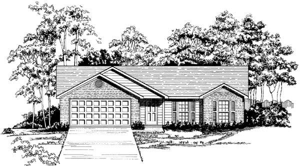 Ranch House Plan 58148