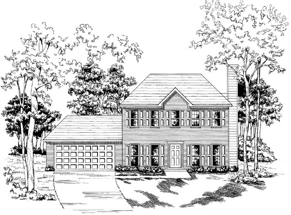 Traditional House Plan 58150 Elevation