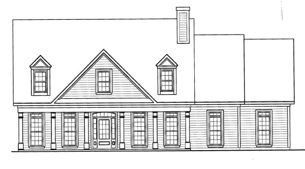 Cape Cod House Plan 58164 Elevation