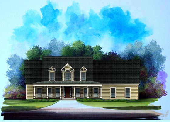 Country House Plan 58192 Elevation