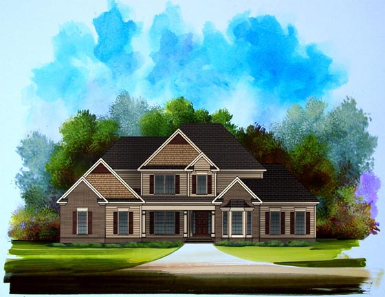 Traditional House Plan 58196 Elevation