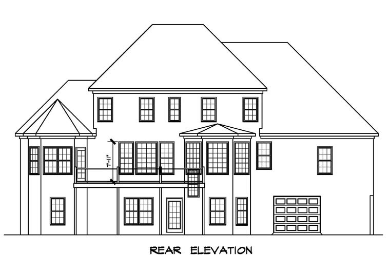 Traditional House Plan 58196 Rear Elevation
