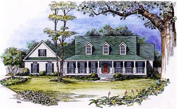 Cape Cod House Plan 58207 Elevation