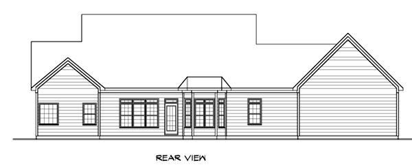 Cape Cod House Plan 58207 Rear Elevation