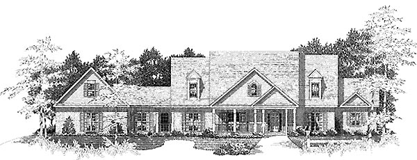Traditional House Plan 58211 Elevation