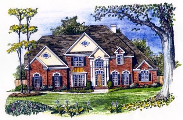 European House Plan 58222 Elevation