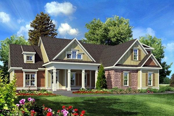 Craftsman Traditional House Plan 58231 Elevation