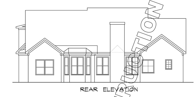 Craftsman Traditional House Plan 58231 Rear Elevation
