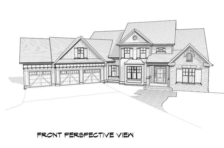 Craftsman, Traditional House Plan 58237 with 5 Beds, 5 Baths, 3 Car Garage Picture 2