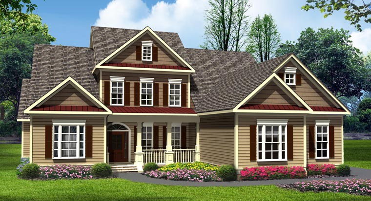 Craftsman Traditional House Plan 58238 Elevation