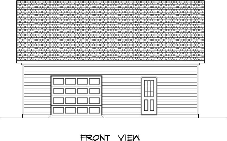 Garage Plan 58241 Elevation