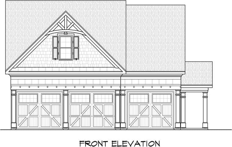 Garage Plan 58246 Elevation
